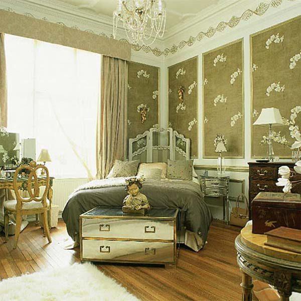 Успешный дизайн и ремонт спальной комнаты зависит от удачного оформления стен.