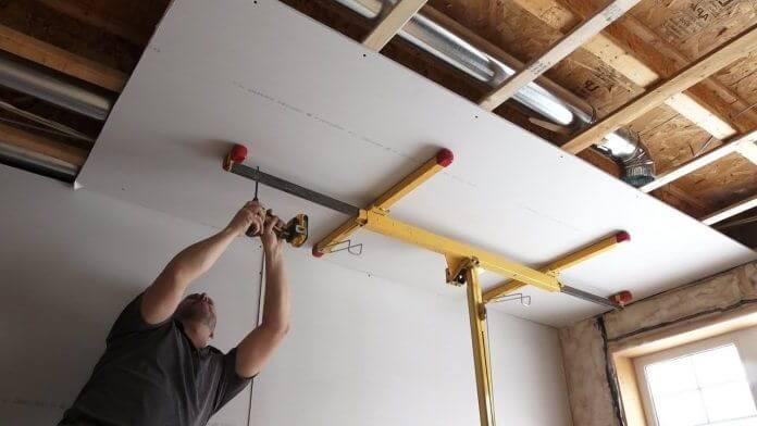 крепёж гкл на потолок