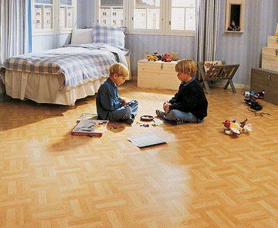 В детскую спальню необходимо стелить максимально экологичное покрытие