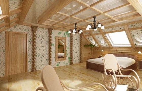 В комнате стены оклеены светлыми обоями с рисунком растительной тематики, что позволило оживить интерьер.