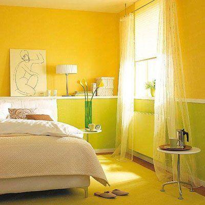 В такой яркой спальне вы всегда будете оставаться в позитивном настроении.