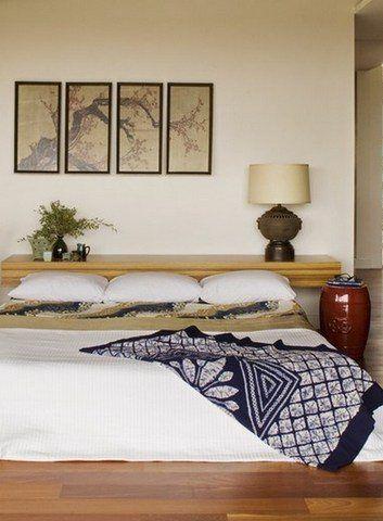 Вариант оформления декоративного панно в японском стиле.