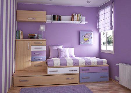 Вариант оформления маленькой спальни
