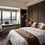 Вариант оформления рабочего места в спальне