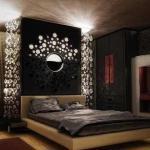 Вариант оформления спальни в темных тонах