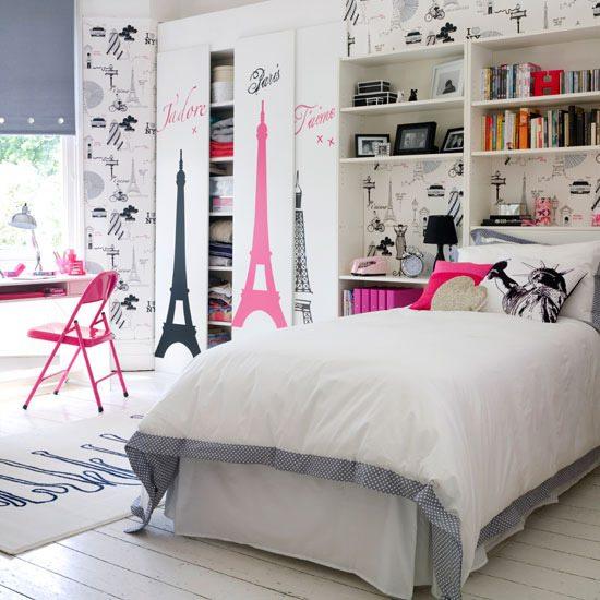 Вариант отделки спальни для девочки-подростка.