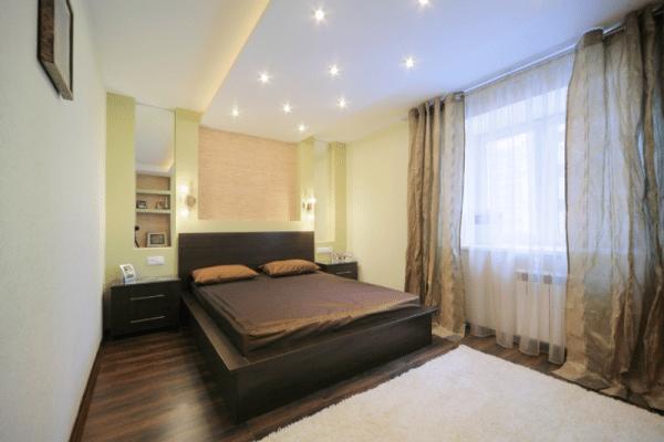 Важным вопросом является выбор колористического варианта отделки помещения для сна.