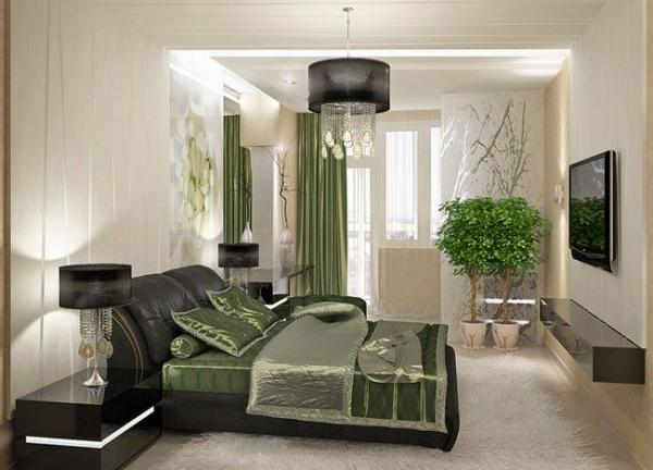 Выбираем цветовое оформление для спальни – на фото комната в нейтральных тонах