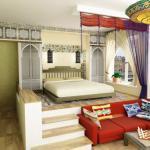 Высокий подиум в спальне