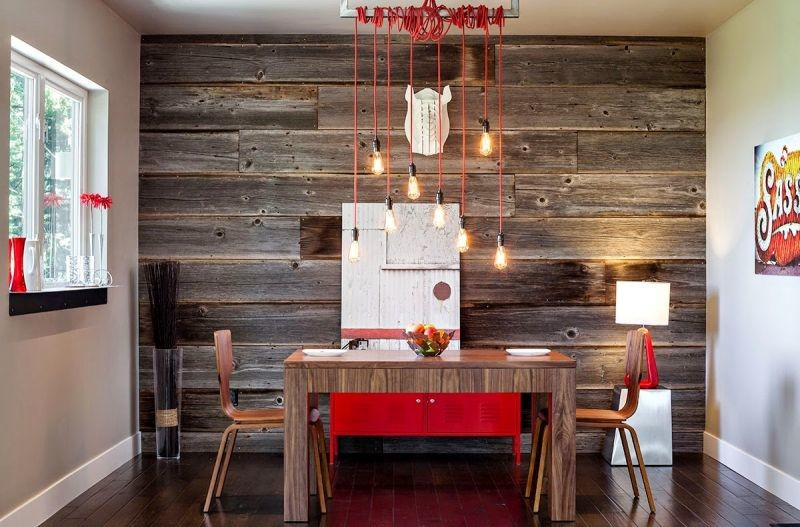 Интересный дизайн стен на кухне