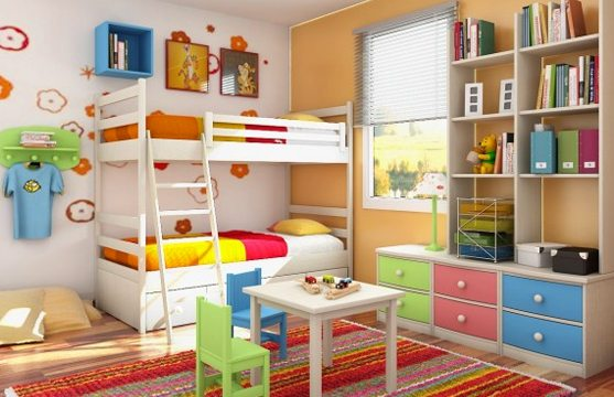 Яркая игровая и спальня одновременно