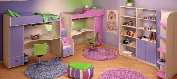 Яркая спальня для двух деток поднимет настроение и родителям!