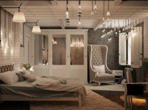 Зеркальные поверхности зрительно расширяют площадь небольшой комнаты