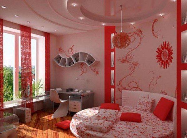 Желательно использовать натуральные изделия. Спальня романтической натуры.