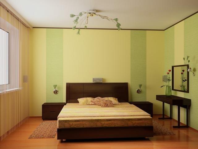 Желтый и зеленый цвета: спокойные оттенки указывают на утонченный вкус хозяев